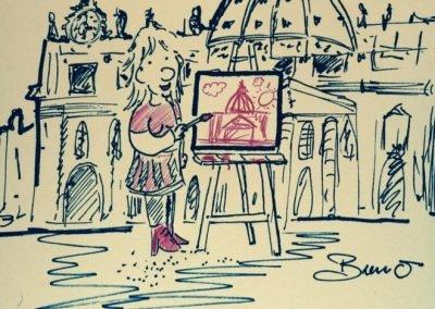 Visueel communiceren - Ciao Bruno -Bruno Edsme-Mobiel atelier-volg de rode schoentjes