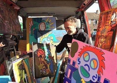 Beeldend kunstenaar-CiaoBruno-Bruno Edsme-Schilderijen-Mobiel atelier