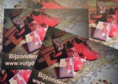 Flyer volg de rode schoentjes